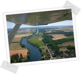 Photo d'une vue depuis l'avion au départ de l'aérodrome de Montélimar Ancône